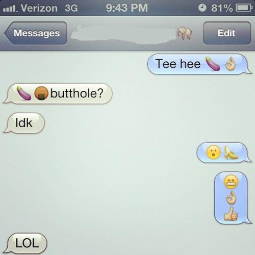 Emojibator text messages