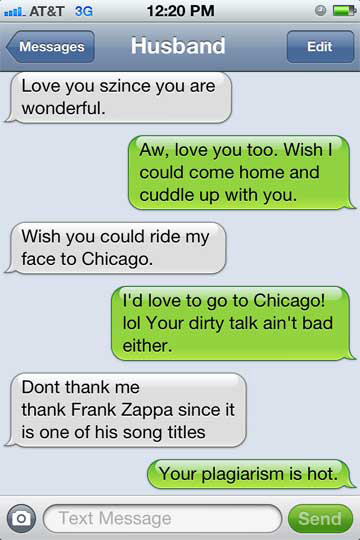 Sexting Win with Zappa