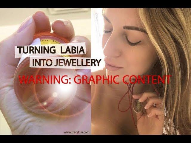 Labia necklace
