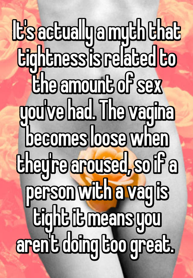 The sex makes you looser myth