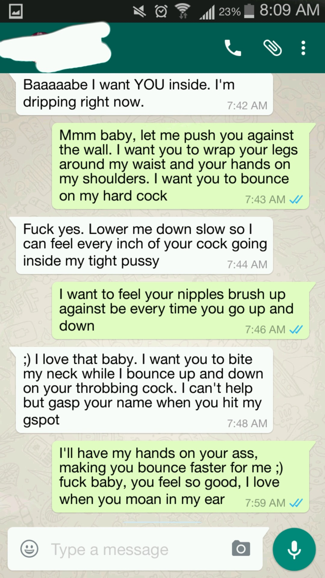 sexting screen cap