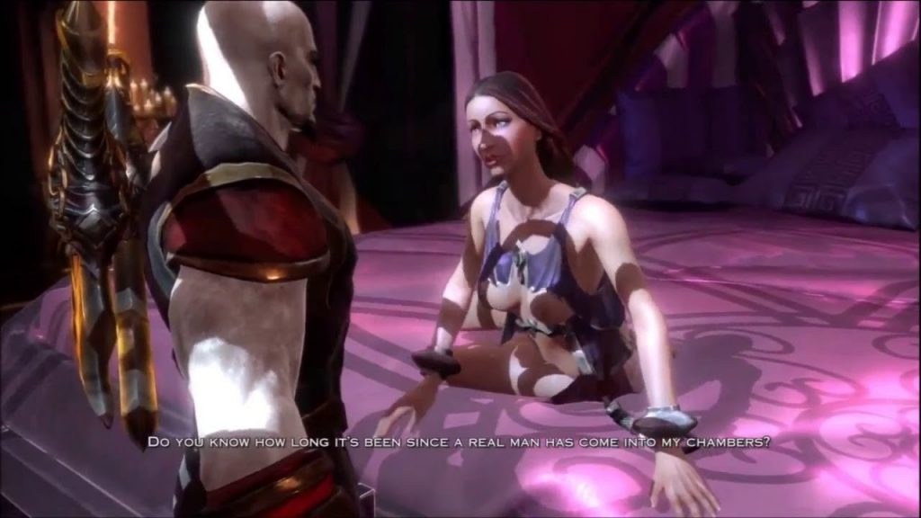 God of War 3 game hot babe